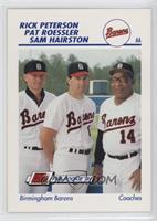 Rick Peterson, Pat Roessler, Sam Hairston