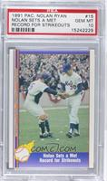 Nolan Ryan (Being Greeted by Jerry Grote) [PSA 10 GEM MT]