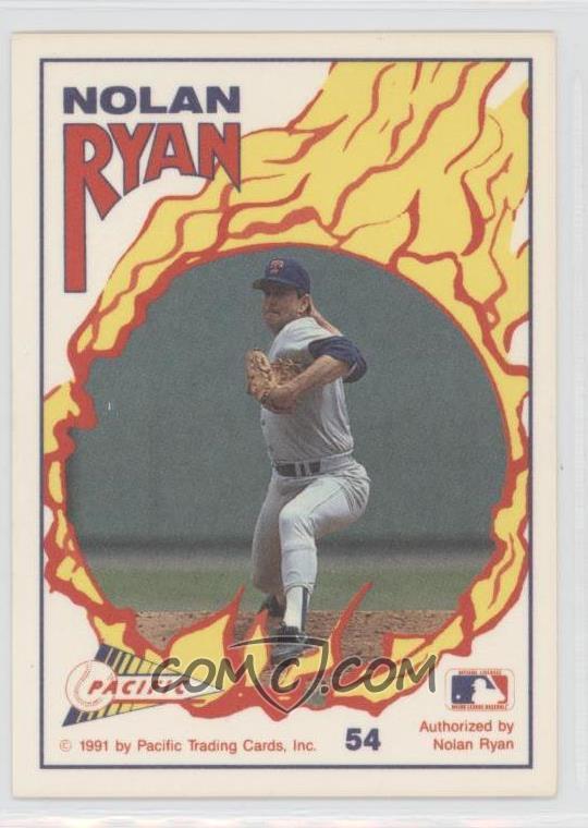 1991 Pacific Nolan Ryan Texas Express Base 54 Nolan Ryan