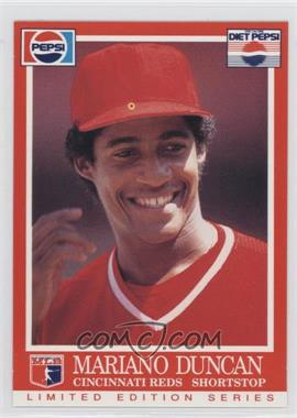 1991 Pepsi Cincinnati Reds Food Issue Base Madu Mariano Duncan