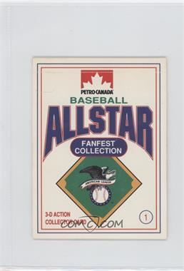 1991 Petro-Canada All Star FanFest Stand-Ups - [Base] #1 - Cal Ripken Jr.