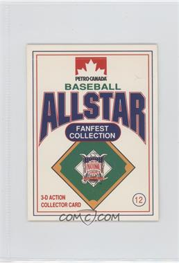 1991 Petro-Canada All Star FanFest Stand-Ups - [Base] #12 - Dwight Gooden