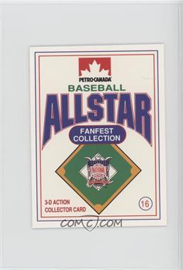 1991 Petro-Canada All Star FanFest Stand-Ups - [Base] #16 - Barry Bonds