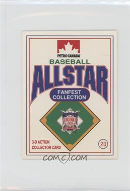 1991 Petro-Canada All Star FanFest Stand-Ups - [Base] #20 - Will Clark