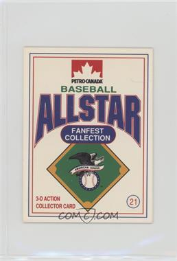 1991 Petro-Canada All Star FanFest Stand-Ups - [Base] #21 - Rickey Henderson