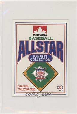 1991 Petro-Canada All Star FanFest Stand-Ups - [Base] #22 - Orel Hershiser