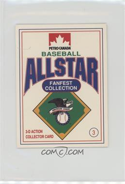 1991 Petro-Canada All Star FanFest Stand-Ups - [Base] #3 - Roger Clemens