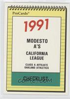 Modesto Athletics (A's) Team