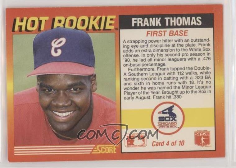 1991 Score Hot Rookies 4 Frank Thomas