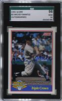 Mickey Mantle (Autograph) /2500 [SGC 98 GEM 10]