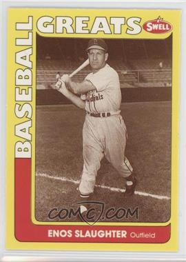1991 Swell Baseball Greats - [Base] #84 - Enos Slaughter