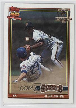 1991 Topps - [Base] - Operation Desert Shield #158 - Jose Uribe
