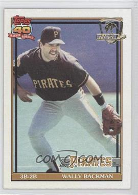 1991 Topps - [Base] - Operation Desert Shield #722 - Wally Backman
