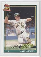 Mark McGwire (SLG .618, A* Before Copyright; Topps 40 Barely Visible in Backgro…