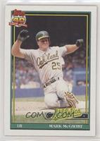 Mark McGwire (SLG .618, A* Before Copyright; Topps 40 Very Bold in Background o…