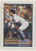 Mike Scioscia (B* Before Copyright; Barely Visible 40th Anniversary Logo)
