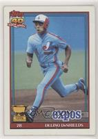 Delino DeShields (A* Before Copyright; Barely Visible Topps 40th Anniversary Lo…