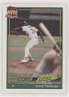 Dave Stewart (B* Before Copryight; Barely Visible Topps 40th Anniversary Logo)