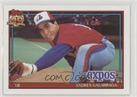 Andres Galarraga (A* Before Copyright; Barely Visible Topps 40th Anniversary Lo…