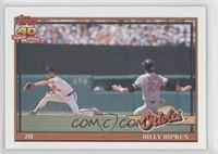 Billy Ripken (A* Before Copyright; Barely Visible 40th Anniversary Logo)