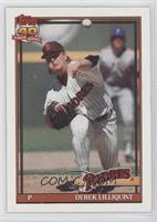 Derek Lilliquist (Registration Symbol next to Padres on top of box; Bold 40th A…