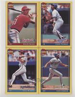 Willie McGee, Eddie Murray, Dale Murphy, Dave Parker [EX to NM]