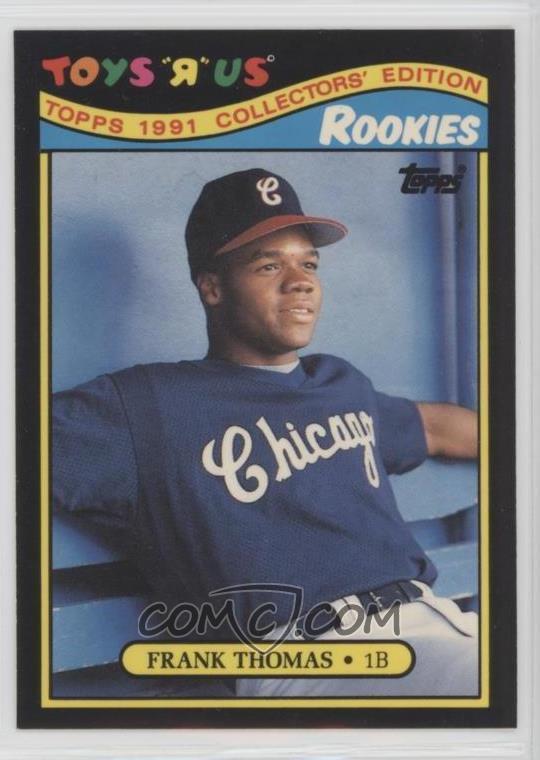 1991 Topps Toys R Us Rookies Box Set Base 27 Frank Thomas