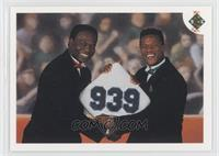 Stolen Base Leaders (Lou Brock, Rickey Henderson) (No Date On Front)