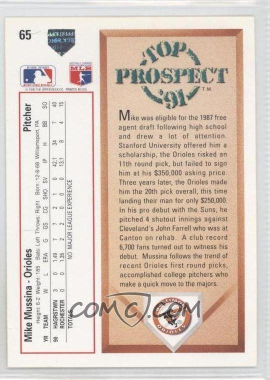 Report Error 1991 Upper Deck