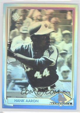 1991 Upper Deck - Heroes of Baseball Hologram #HH1 - Hank Aaron
