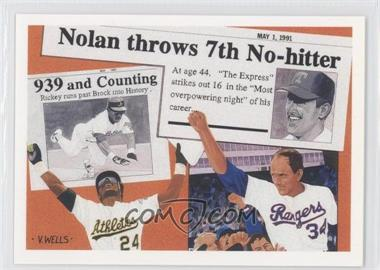 1991 Upper Deck - Short Print #SP2 - Nolan Ryan, Rickey Henderson