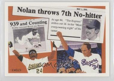 1991 Upper Deck - Short Print #SP2 - Nolan Ryan, Rickey Henderson