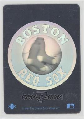 1991 Upper Deck Team Logo Hologram Inserts Bos Boston Red Sox
