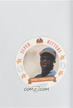1992 Ben's Bread Super Hitters Discs - [Base] #14 - Terry Pendleton