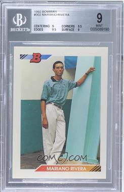 1992 Bowman - [Base] #302 - Mariano Rivera [BGS9MINT]