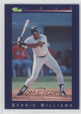 1992 Classic - [Base] #102 - Bernie Williams - Courtesy of COMC.com