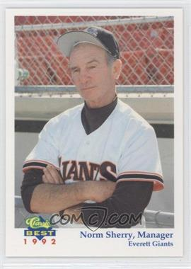 1992 Classic Best Everett Giants - [Base] #30 - Norm Sherry