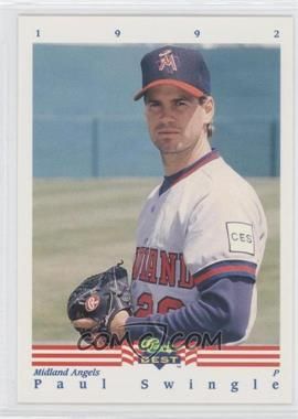 1992 Classic Best Minor League - [Base] #339 - Paul Swingle