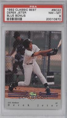 1992 Classic Best Minor League - Bonus Card - Blue #BC22 - Derek Jeter [PSA8]