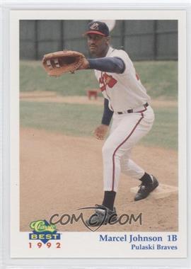 1992 Classic Best Pulaski Braves - [Base] #9 - Marcel Johnson