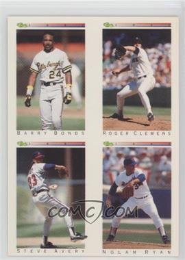1992 Classic Update White Travel Edition - [Base] #TNoN - Barry Bonds, Steve Avery, Nolan Ryan, Roger Clemens