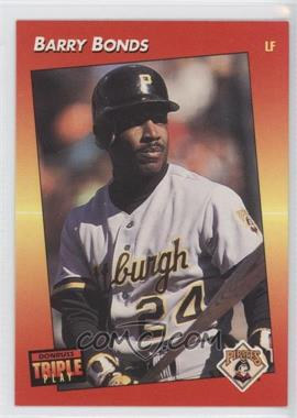 1992 Donruss Triple Play Base 116 Barry Bonds Comc