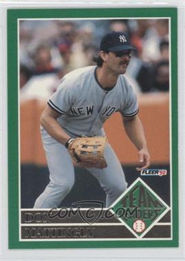 1992 Fleer - Team Leaders #1 - Don Mattingly