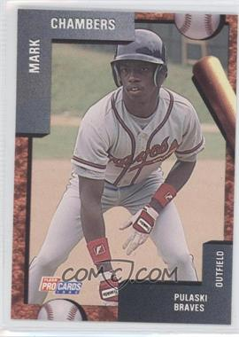 1992 Fleer Procards Minor League Base 3189 Mark Chambers