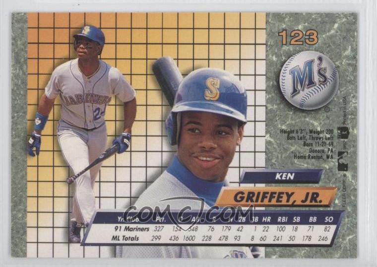 3bb3e52e73 Report Error. 1992 Fleer Ultra - [Base] #123 - Ken Griffey Jr.