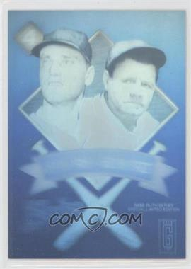 1992 Gold Entertainment The Babe Ruth Series Holograms - [Base] #4 - Babe Ruth, Roger Maris