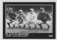 Babe Ruth, Lou Gehrig, Tris Speaker, Ty Cobb