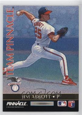 1992 Pinnacle - Team Pinnacle #2 - Jim Abbott, Steve Avery
