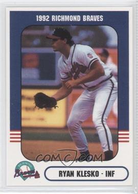 1992 Richmond Comix & Cardz Richmond Braves - [Base] #30 - Ryan Klesko