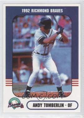 1992 Richmond Comix & Cardz Richmond Braves - [Base] #4 - Andy Tomberlin